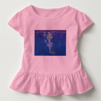 Sweet ruffled pink shirt with fairie dancing.