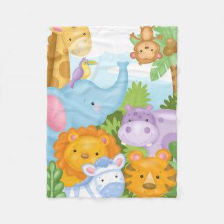 Sweet Safari Flannel Blanket