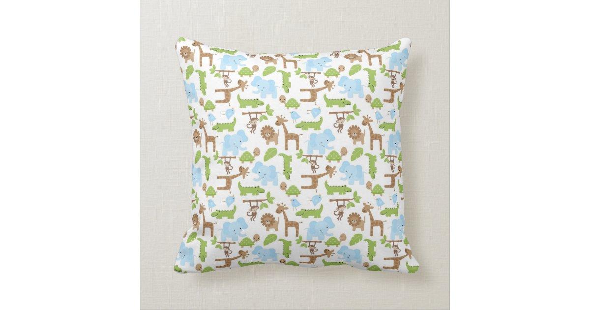 Animal Pillows For Nursery : Sweet Safari Jungle Animals Nursery Throw Pillow Zazzle.co.uk