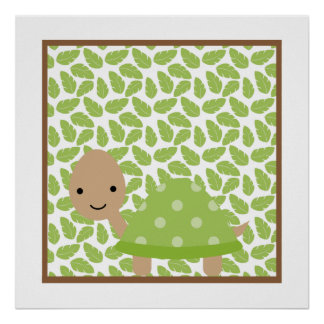 Sweet Safari Little Turtle Nursery Wall Art