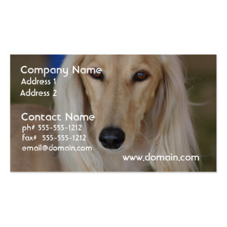 Sweet Saluki Pack Of Standard Business Cards