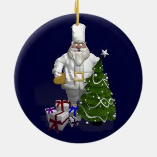 Sweet Santa Claus Chef Christmas Ornament