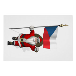 Sweet Santa Claus With Flag Of Czech Republic