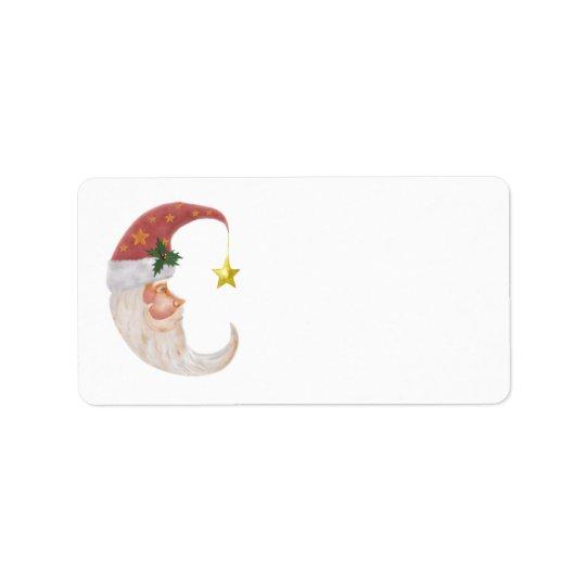 Sweet Santa Half Moon - add your own text Address Label