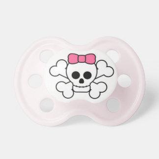 Sweet & Sassy Baby Girl Skull & Bow Pacifier