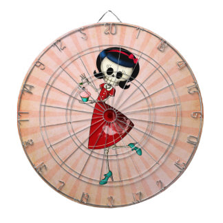 Sweet & Scary Skeleton Girl Dartboard