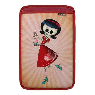 Sweet & Scary Skeleton Girl MacBook Sleeve