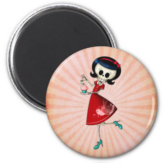 Sweet & Scary Skeleton Girl Magnet