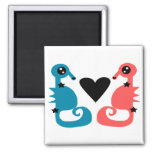 Sweet Seahorse love Fridge Magnets