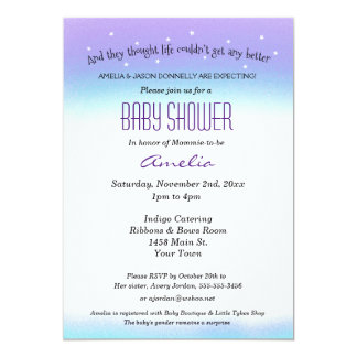 Sweet Sentiment Baby Shower Invitation