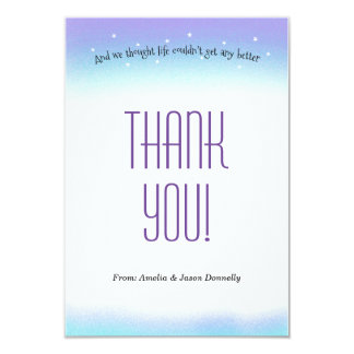Sweet Sentiment Baby Shower Thank You Card 9 Cm X 13 Cm Invitation Card