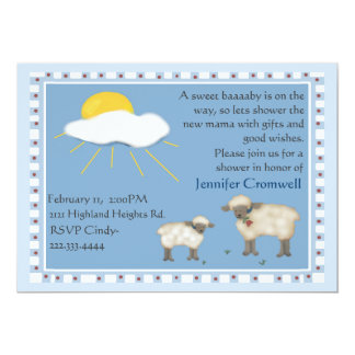 Sweet Sheep baby shower invitation