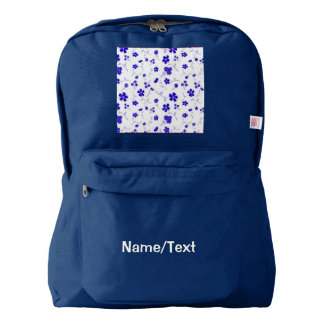 sweet shiny flora blue (I) Backpack