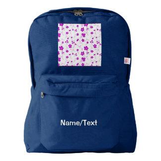 sweet shiny floral pink (I) Backpack