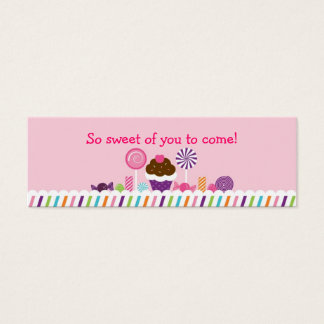 Sweet Shop Candy Goodie Bag Tags Mini Business Card