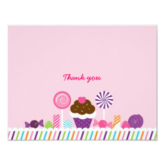 Sweet Shop Candy Thank You Note Cards 11 Cm X 14 Cm Invitation Card