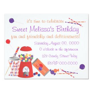 Sweet Shoppe 11 Cm X 14 Cm Invitation Card