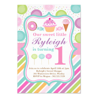 Sweet Shoppe Birthday Party Invitation