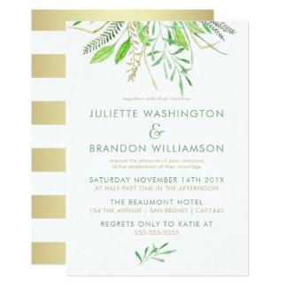 Sweet Simple Green Grass Wedding 13 Cm X 18 Cm Invitation Card