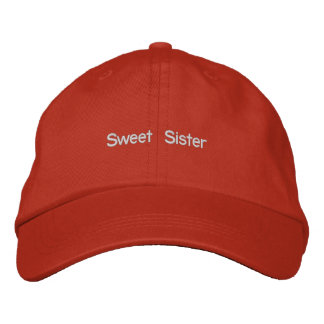 Sweet Sister Hat Embroidered Cap