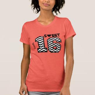 Sweet Sixteeen 16 Birthday Chevron Custom Name V2 T-Shirt