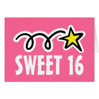 Sweet Sixteen (16) Birthday Cards