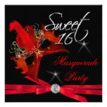 Sweet Sixteen 16 Masquerade Red Black