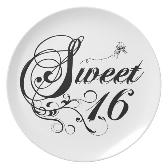 Sweet Sixteen (16) Quotes Plate