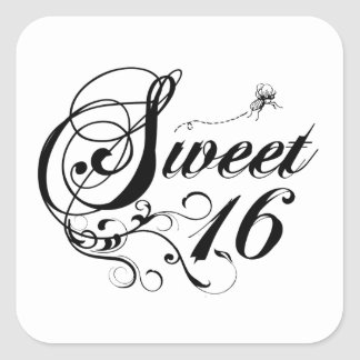 Sweet Sixteen (16) Quotes Square Sticker