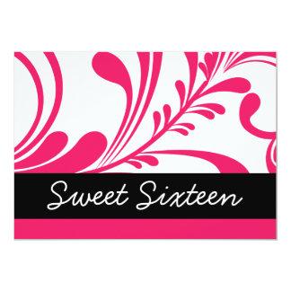 "Sweet Sixteen 5"" X 7"" Invitation Card"