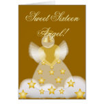Sweet Sixteen Angel!-Customise Greeting Card