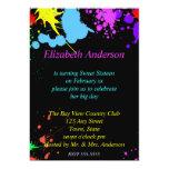 Sweet Sixteen, Bat Mitzvah, Painted Party 13 Cm X 18 Cm Invitation Card