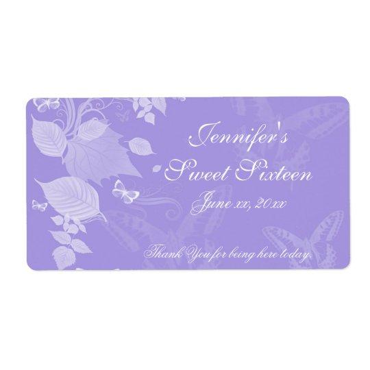 Sweet Sixteen, Bat Mitzvah, Purple White, Custom