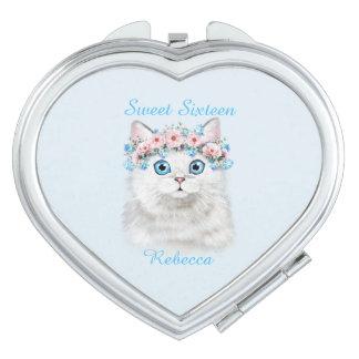 Sweet Sixteen Birthday Cute Kitten Mirror For Makeup