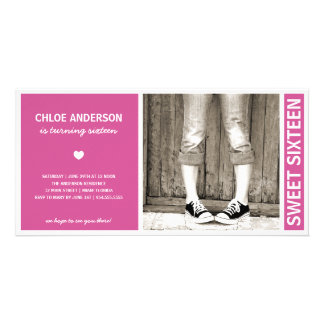 SWEET SIXTEEN | BIRTHDAY INVITATION CUSTOMISED PHOTO CARD