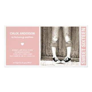 SWEET SIXTEEN | BIRTHDAY INVITATION PERSONALIZED PHOTO CARD