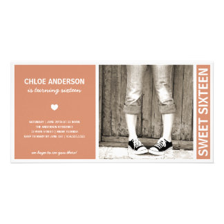 SWEET SIXTEEN   BIRTHDAY INVITATION PHOTO CARD