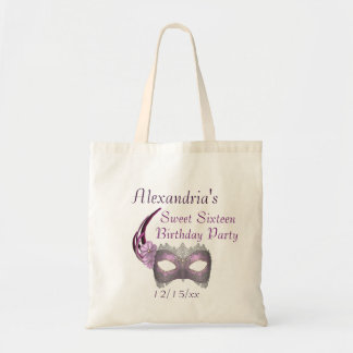 """Sweet Sixteen Birthday"" - Lavender/Pink Lace Mask Bag"