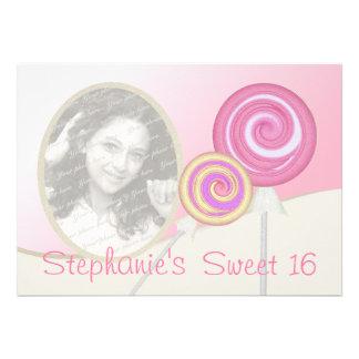 Sweet Sixteen Birthday Lollipop Announcement