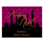 Sweet Sixteen Birthday Party Poster