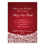Sweet Sixteen Birthday Party Star Sparkle Red Personalised Invites