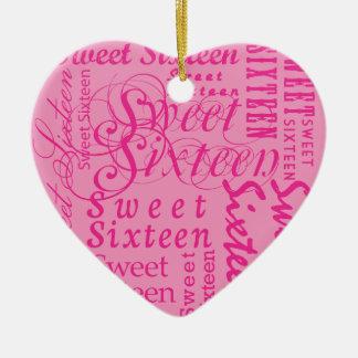 Sweet Sixteen Christmas Ornament