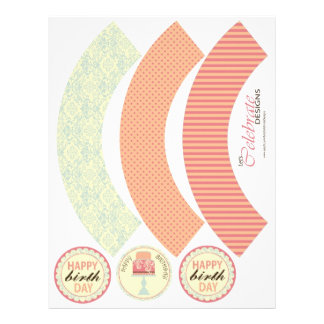 Sweet Sixteen Cupcake Wrapper Template Full Color Flyer
