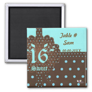 Sweet Sixteen Gifted Place Magnet-Cust. Square Magnet