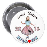 Sweet Sixteen: Hillary for President 2016 7.5 Cm Round Badge