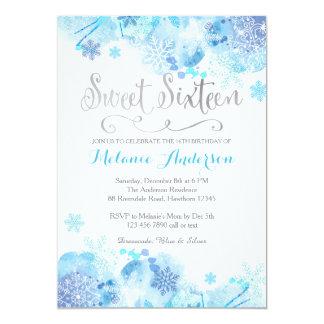 Sweet Sixteen invitation, Winter Wonderland 13 Cm X 18 Cm Invitation Card