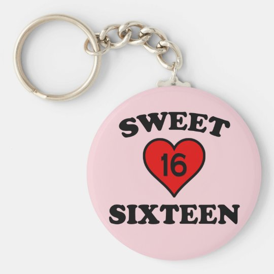 SWEET SIXTEEN KEY RING
