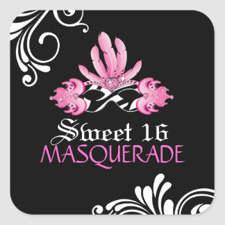 Sweet Sixteen  Masquerade Sticker