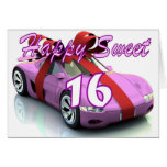Sweet sixteen new car birthday card
