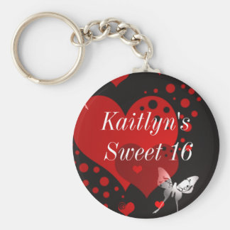 Sweet Sixteen Party Favor Key Chain